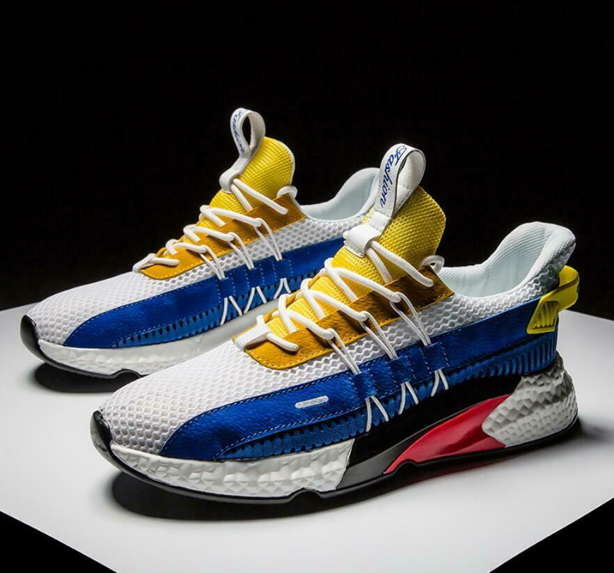 New Mens shoes Casual Sports Sneakers Fashion Mixed color Athletic Running shoes