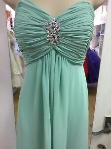Prom Dress size 14 Mint Green Strapless