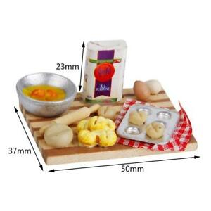 1-12-Scale-Dollhouse-Miniature-Kitchen-Food-Eggs-Milk-Bread-amp-Milk-Bottles