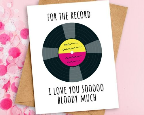 I Love You So Much Card A6 Funny Anniversary Valentines Card Eco Friendly