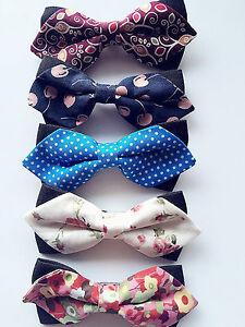 Baby-Boys-Kids-Children-Party-School-Cotton-Fashion-bow-tie-Necktie-bowtie-Pin