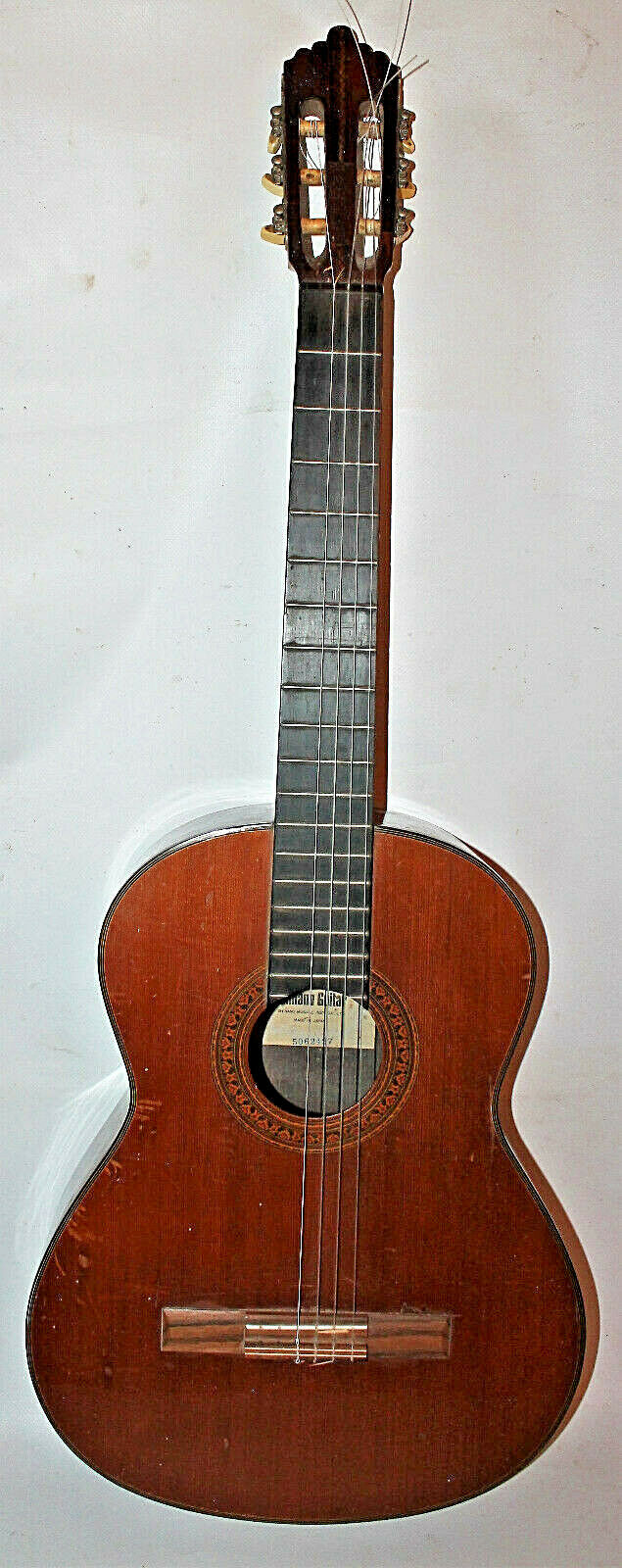 Ancienne guitare classique Shinano Guitar model 53 numéro 5062427