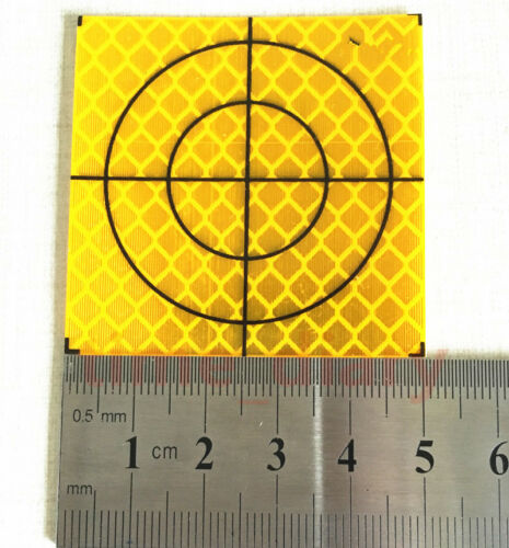 NEW 100PCS YELLOW REFLECTOR SHEET 50X50MM REFLECTIVE TARGET FOR TOTAL STATION