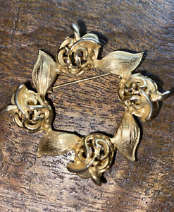 Vintage Gerrys Leaf Pin Estate Sale Find