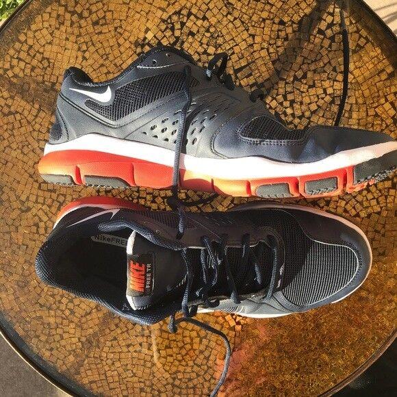 Men's Nike Free TR Athletic Shoes Size 11.5 Navy/Orange