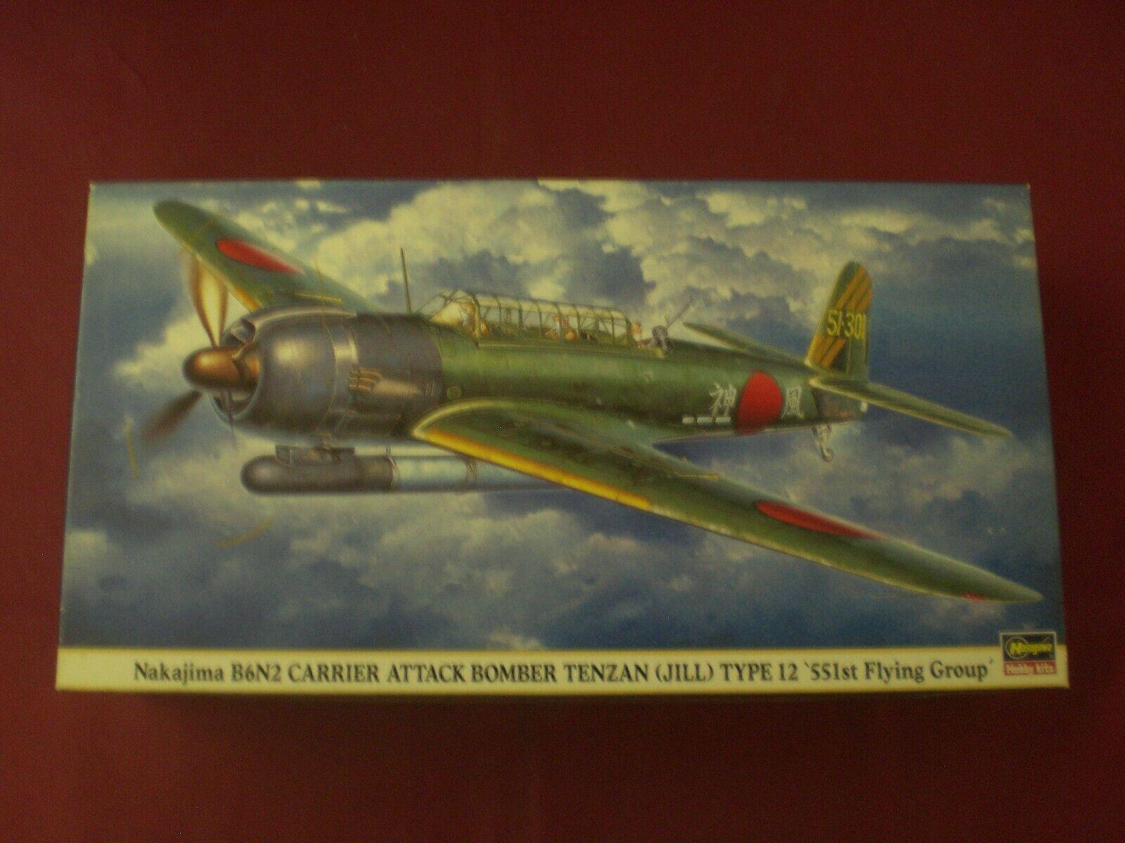 Nakajima B6N2 Carrier Attack Bomber Tenzan - SCALA 1 48 Hasegawa