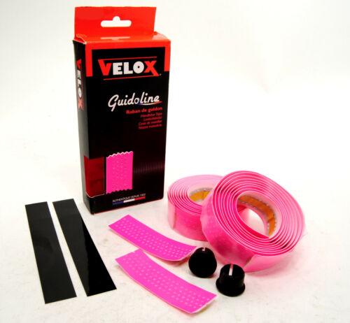 Velox Guidoline Fluorescent Pink Perforated Road Bike Handlebar Bar Tape