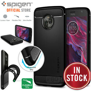 finest selection 1a31f d2e53 Details about Moto X4 Case Genuine SPIGEN Rugged Armor Resilient Ultra Soft  Cover for Motorola