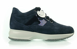 H2 HOGAN INTERACTIVE STRASS BLU Scarpe DONNA SHOES Damenshuhe WOMEN 100%AUT