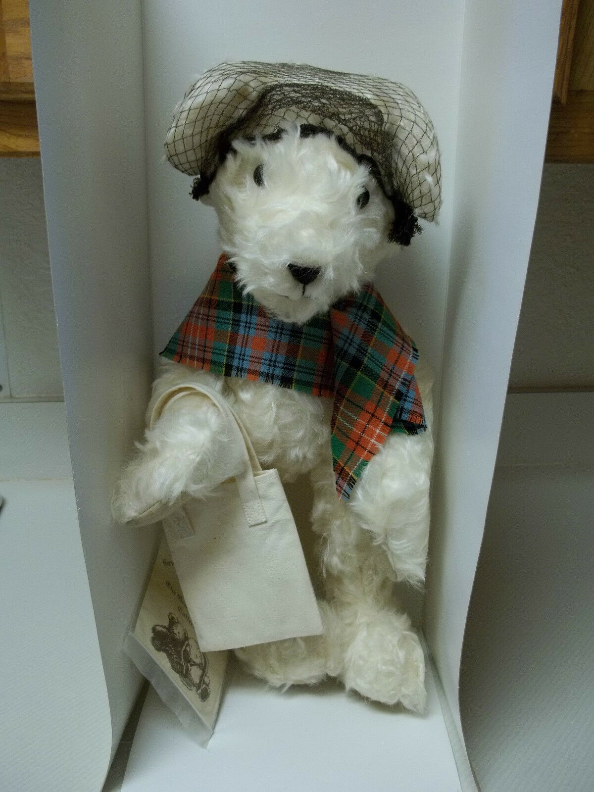 Geraldine's Of Edinburgh Mohair Bear Olive  1 Young At Heart Collection RARE