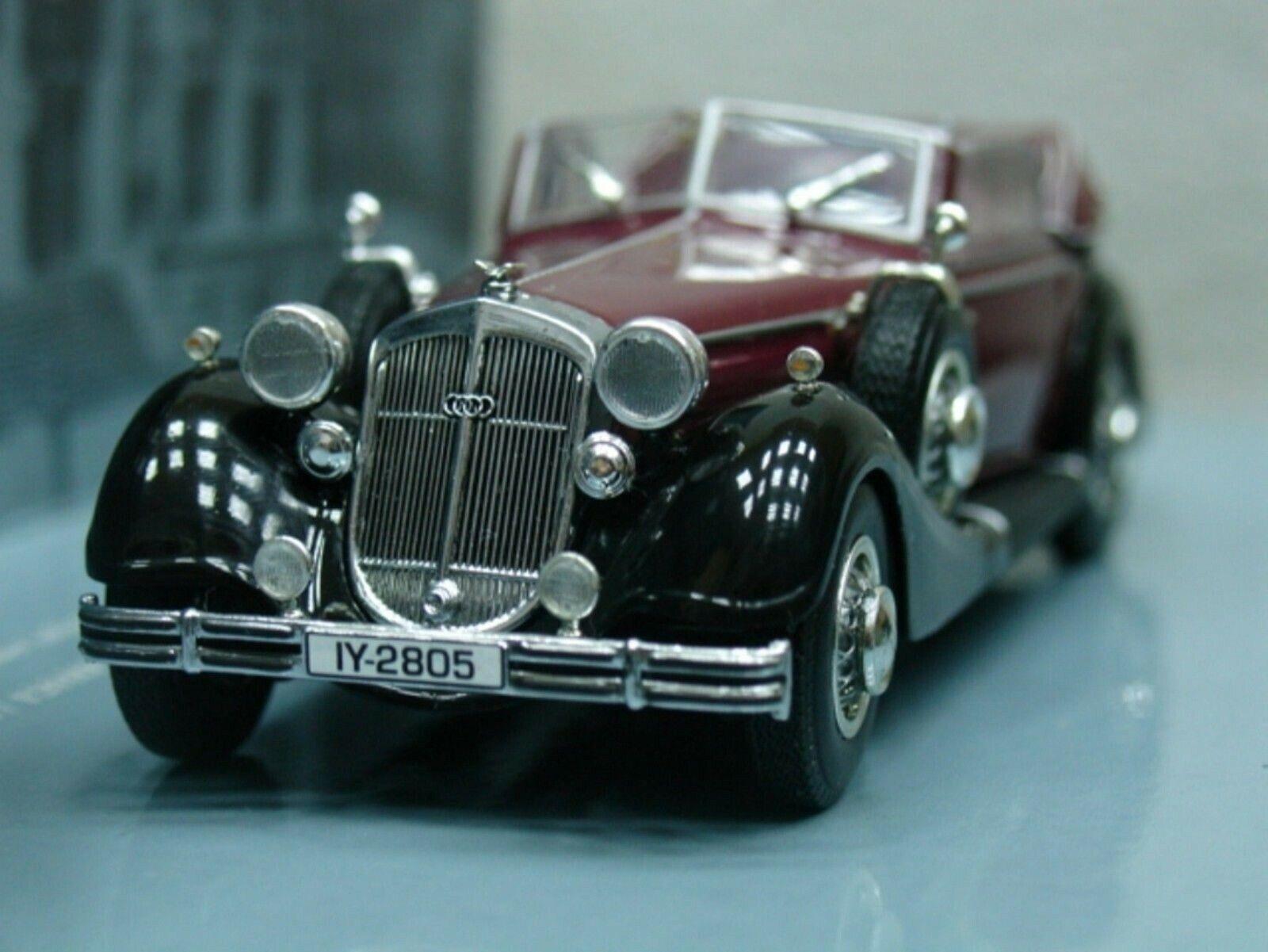 Wow extrêmement rare HORCH 853 A CABRIOLET 1938 Rouge Noir 1 43 Minichamps - 855 327