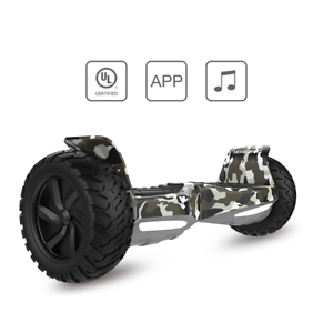 "Camouflage 8.5/"" Off Road Tout Terrain Hoverboard Self Balancing Scooter UL 2272"