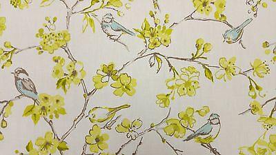 Clarke and Clarke Birdies Citrus Designer Curtain Upholstery Craft Fabric