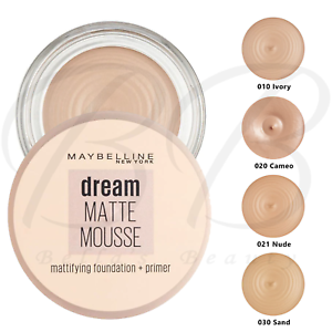MAYBELLINE Dream Matte Mousse Mattifying Foundation and Primer SPF15 *ALL SHADES