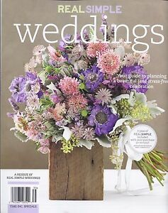 Image Is Loading Real Simple Weddings Magazine 2017 Your Guide To