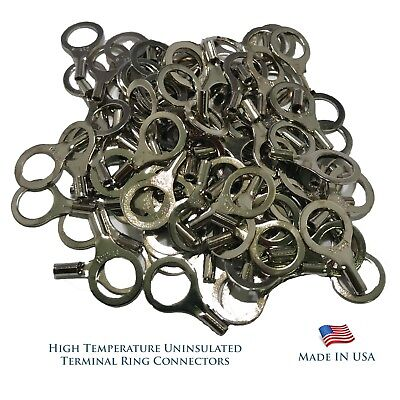 USA High Temperature 100 Pieces Terminal Connectors 22-18 AWG Gauge #6 Spade