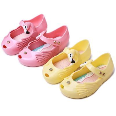 Rose kids Girls Mini Melissa Shoes Sandals Summer Cute Toddler US Size 6-11