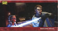 Star Wars Clone Wars Widevision Silver Stamped Parallel Base Card [500] #21