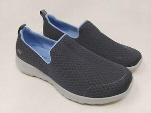 New-Women-039-s-Skechers-15635W-GOwalk-Joy-Rejoice-Slip-On-Gray-Blue-Wide-C54