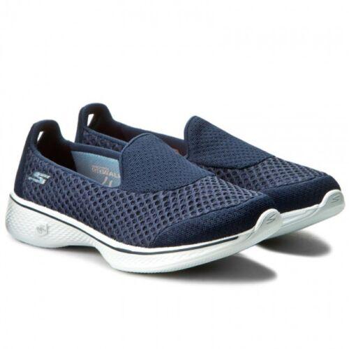 White Shoe 2018 Slip On Go Walk 4 navy Skechers New Walking Kindle Trainer v7dwqn