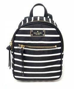 46ba1e60d8f5 Kate Spade Mini Bradley Wilson Road French Stripe Nylon Backpack ...