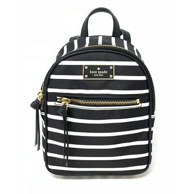 Kate Spade Mini Bradley Wilson Road French Stripe Nylon Backpack WKRU5687 $199