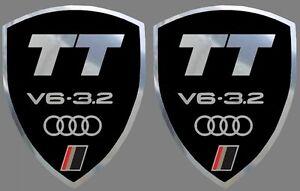 2-adhesifs-stickers-noir-et-chrome-AUDI-TT-V6-3-2-ideal-pour-ailes-avant