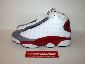 get cheap 058b9 d2ba0 Details about New Nike Air Jordan Retro 13 XIII Gray Grey Red White 2014  Released Size 11