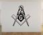 "Details about  /Freemasonry Mason Compas Large Wall Vinyl Decal Sticker 22x24/"" Custom Free Ship"