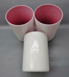 Victorian-Cased-Glass-Blown-Tumblers-3-White-over-Lavender-Magenta-6465
