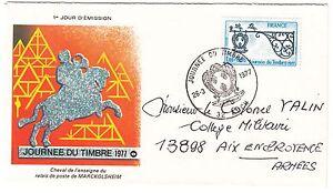 LETTRE-FDC-FRANCE-TIMBRE-N-1927-ENSEIGNE-DE-RELAIS-POSTE