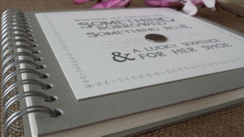 East Of India VINTAGE Sixpence album photo de mariage livre d/'or souvenir débris