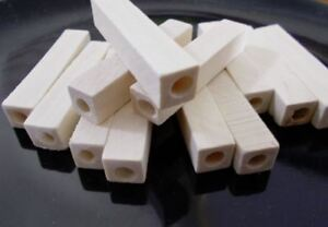 50pcs-50mm-x-10mm-WOODEN-Long-Cuboid-Square-Cylinder-Beads-Unpainted-Natural-B19