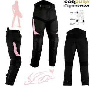 WOMENS-PINK-SPEED-MAXX-LADIES-CE-ARMOUR-MOTORBIKE-MOTORCYCLE-MOTOCROSS-TROUSERS