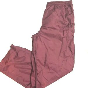 Eastbay-Mens-Size-Large-Red-Maroon-Windpants-Athletic-Bottoms-Elastic-Waist