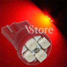 2 LED T10 4 SMD ROSSO Lampada Luci Posizione e Targa Per Fari XENON 12V