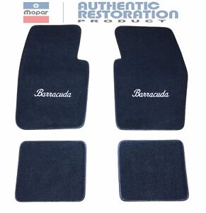 Floor-Mats-80-20-Loop-Cater-1964-74-Plymouth-Barracuda-Embroidered-Mopar