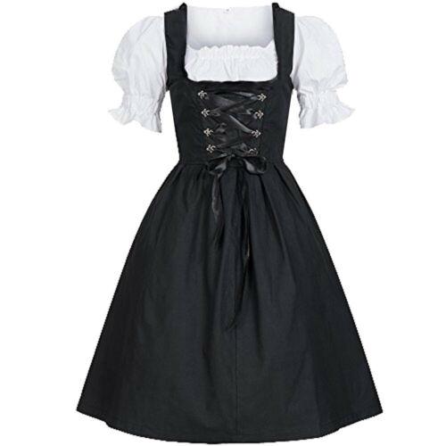 Women/'s Vintage Oktoberfest Costume Bavarian Beer Tavern Maid Ball Gown Dress US