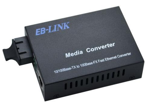 10//100M Singlemode 20KM Duplex SC Fiber Optic to RJ45 Ethernet Media Converter