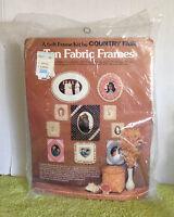 Vintage 9137 Country Fair Ten Fabric Frames Soft Frame Kit -- Nip