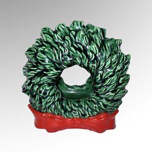 "Vintage Tampa Bay Mold Co Ceramic Christmas Wreath Napkin Holder 5""T"