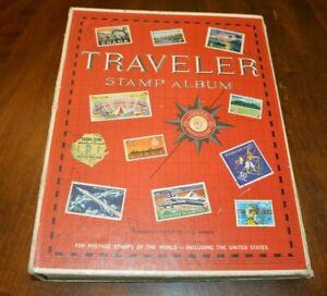 CatalinaStamps-Traveler-Stamp-Album-Harris-972-w-800-Stamps-Lot-D16