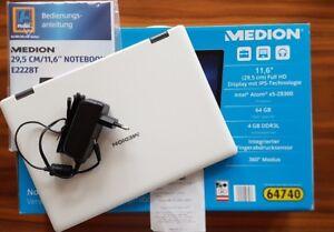 Touch Notebook Medion Akoya E2228T mit Touchscreen in weiß mit Win10 - Salzburg, Österreich - Touch Notebook Medion Akoya E2228T mit Touchscreen in weiß mit Win10 - Salzburg, Österreich