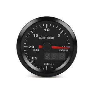 """2"""" 52mm Digital&Pointer 7 Color LED Car Vacuum Press Gauge Meter With Sensor"""