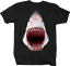 Great-White-Shark-Jaw-Bloody-Mouth-Wide-Open-Fishing-Ocean-Tshirt miniatuur 3