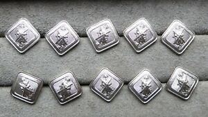 Set-of-8-diamond-shape-buttons-Christian-Cross-Religious-15-x-15-mm