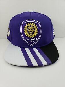 more photos a16c8 157c4 Image is loading Orlando-City-SC-Cap-Adidas-Snapback-Hat-2017-
