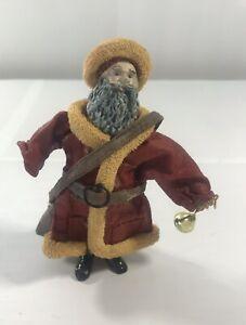 Vintage-Santa-Claus-Figure-Paper-Mache-Christmas-Holiday-Home-Decor-Table-Top