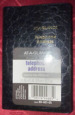 At A Glance Telephoneaddress Book 400 Entries 2 34 X 4 14 80 401 05