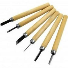 NEW 6 PIECE WOOD CARVING KNIVES, DURABLE WOOD CHISEL SET, SCULPT KIT  FREEPOST!